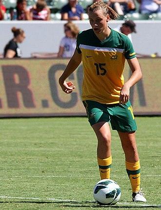 Emily van Egmond - van Egmond playing for Australia