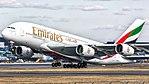 Emirates Airbus A380 A6-EDF (33356802866).jpg