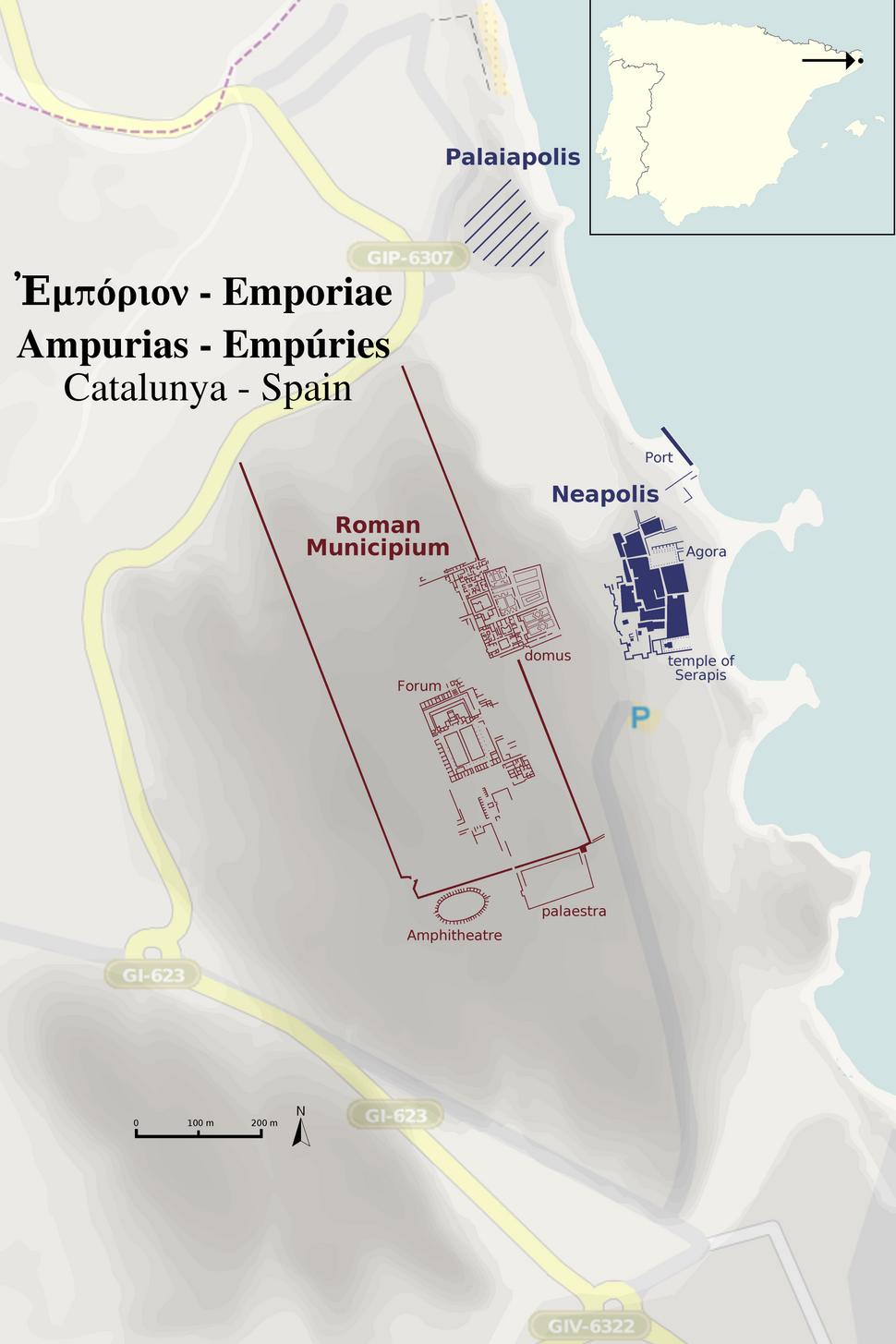 Empúries Map