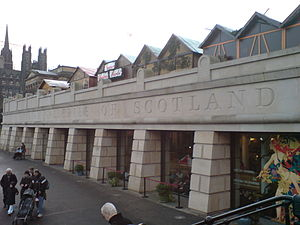 Scottish National Gallery - The lower entrance of the Scottish National Gallery in Princes Street Gardens