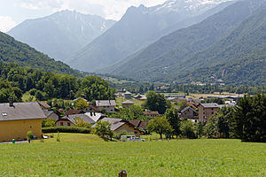 Battle of Epierre - View of Epierre and the surrounding mountains