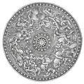 Erik XIVs paradsköld gjord i stål 1562. Dekorerad med krigande Amazoner - Livrustkammaren - 96162.tif