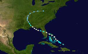 Hurricane Erin (1995) - Image: Erin 1995 track