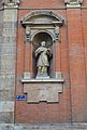 Estàtua de sant Carles Borromeo, església de sant Felip i sant Tomàs, València.JPG