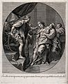 Esther faints before the fierceness of Ahasuerus. Engraving Wellcome V0034337.jpg