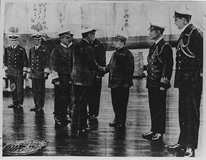 Kyōsuke Eto - Captain Eto greeted by King George V at Scapa Flow, 10 days before the disaster