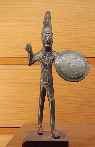 Etruscan military history - Etruscan warrior, found near Viterbo, Italy, dated circa 500 BCE.
