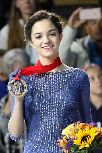 Evgenia Medvedeva - Medvedeva at the 2015 Skate America.