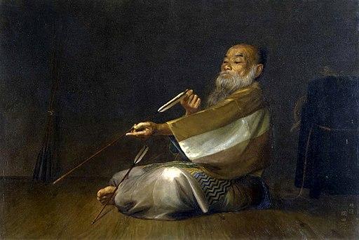 Examining an Arrow by Okada Saburōsuke (Saga Prefectural Museum)