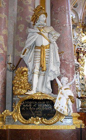 Louis II, Duke of Bavaria - Duke Louis II, as depicted in a sculpture inside Fürstenfeld Abbey