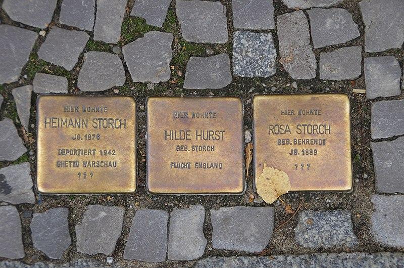 File:Fürstenwalde Brandenburg Stolperstein Eisenbahnstraße.jpg