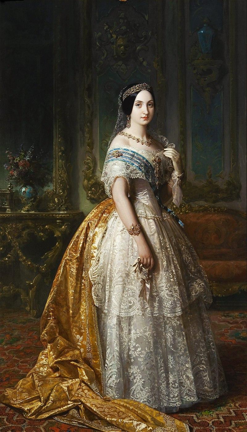 F. de Madrazo - 1851, La infanta Luisa Fernanda de Borbón, Duquesa de Montpensier (Palacio Real de Madrid, 220 x 128 cm).jpg