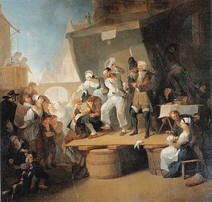 Barber surgeon - Franz Anton Maulbertsch's The Quack (c. 1785) shows barber surgeons at work.
