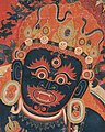 Face detail, 15th-century painting from Tibet, Central Tibetan - Mahakala, Protector of the Tent - Google Art Project (cropped) (cropped).jpg