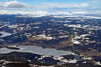 Fagernes Airport, Leirin - Aerial view of the airport
