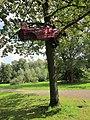 Falschfahrer, 2010 von János Nádasdy, Klanggärten - Kunst am Baum, Am Vierthaler Teich in Hannover, Gartenregion Hannover, Gruppe 7, Orga Dagmar Brand.JPG