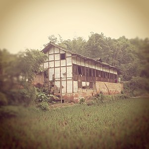 Bashu culture - Linpan in Chengdu Plain is a well-known landmark in Chengdu Plain, Sichuan.