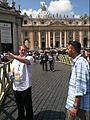 Father Rob Keighron and Lino Rulli in Rome.jpg