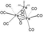 Struktur von Trieisendodecacarbonyl