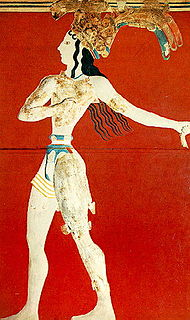 <i>Prince of the Lilies</i> Minoan mural painting from Knossos, Crete