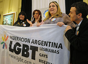 President Cristina Fernandez de Kirchner, with...