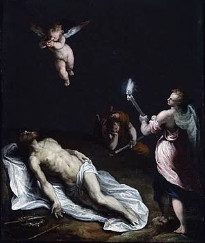 Felice Riccio - Image: Felice Brusasorci Dead Christ Mourned by Angels Boston Museum