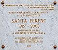 Ferenc Santa plaque in Budapest13.jpg