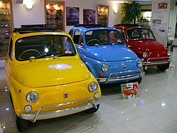 Fiat 500 in the Malta Classic Car Museum