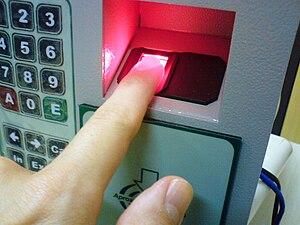Fingerprint scanner identification on a Govern...