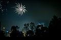 Fireworks Diwali night landscape Bangalore India November 2013.jpg