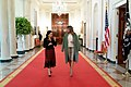 First Lady Melania Trump Visits with Mrs. Rocio Gonzalez de Moreno (49530033773).jpg