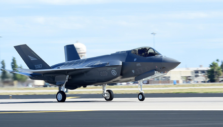 The first Norwegian F-35 Lightning II lands at Luke Air Force Base First Norwegian F-35.png