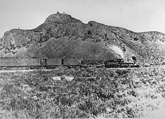 "Jupiter (locomotive) - The Jupiter leads the train that carried Leland Stanford, one of the ""Big Four"" owners of the Central Pacific Railroad, and other railway officials to the Golden Spike Ceremony."