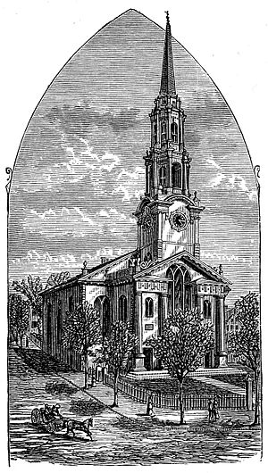 First Unitarian Church of Providence (Rhode Island) - 1886 engraving