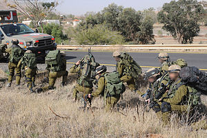 162nd Division (Israel) - Soldiers of the Valley Brigade during a surprise exercise