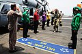 Flickr - Official U.S. Navy Imagery - The deputy commander of the International Security Assistance Force walks through rainbow sideboys..jpg