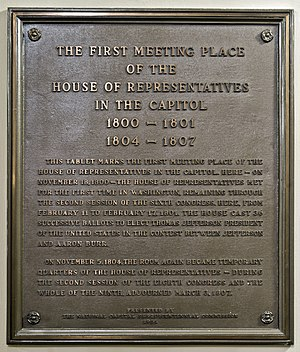 Anniversary - Memorial plaque presented by the NATIONAL CAPITAL SESQUICENTENNIAL COMMISSION, 1951