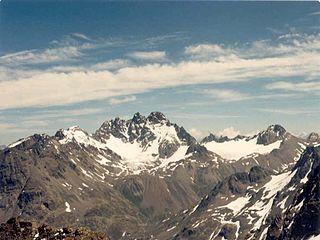 Fluchthorn mountain in Austria