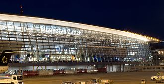 Zurich Airport - The Airside Center by night
