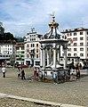 Fontaine de la vierge Einsiedeln Canton de Schwys 2010-07-04 - panoramio.jpg