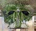 Fonte della fata morgana, interno 07 vasca a mascherone rovesciato.jpg
