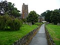 Footpath through Dunster churchyard - geograph.org.uk - 1702673.jpg