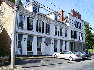 Forestdale, Rhode Island - Forestdale's main factory block from the nineteenth century, currently has a post office