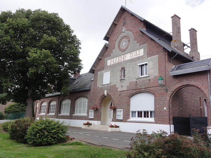 Foreste (Aisne) mairie-école