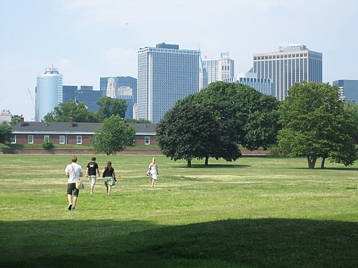 Fort Jay and Manhattan Skyscrapers, Governor's Island NY