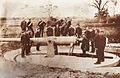 Fort Lytton 6inch Armstrong Disappearing Gun in Firing Position c1900.jpg