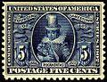 Founding of Jamestown stamp 5c 1907 issue.JPG