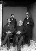 Four ministers of religion, Y Borth NLW3364621.jpg