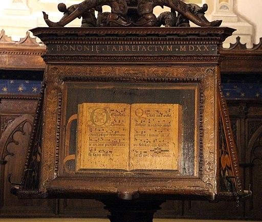 Fra raffaele da verona, badalone coro intarsiato di monte oliveto maggiore, 1520, 01