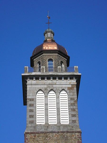 Saint-Amand (Normandie, France). Le clocher de l'église.